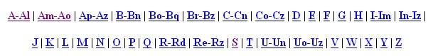 sample of retrospective index