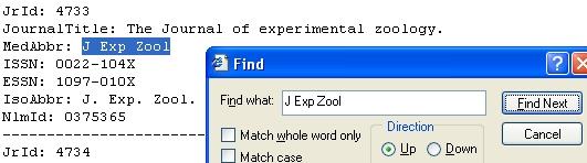 sample abbreviation search