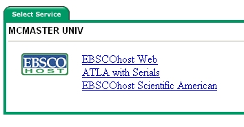EBSCO Host Web