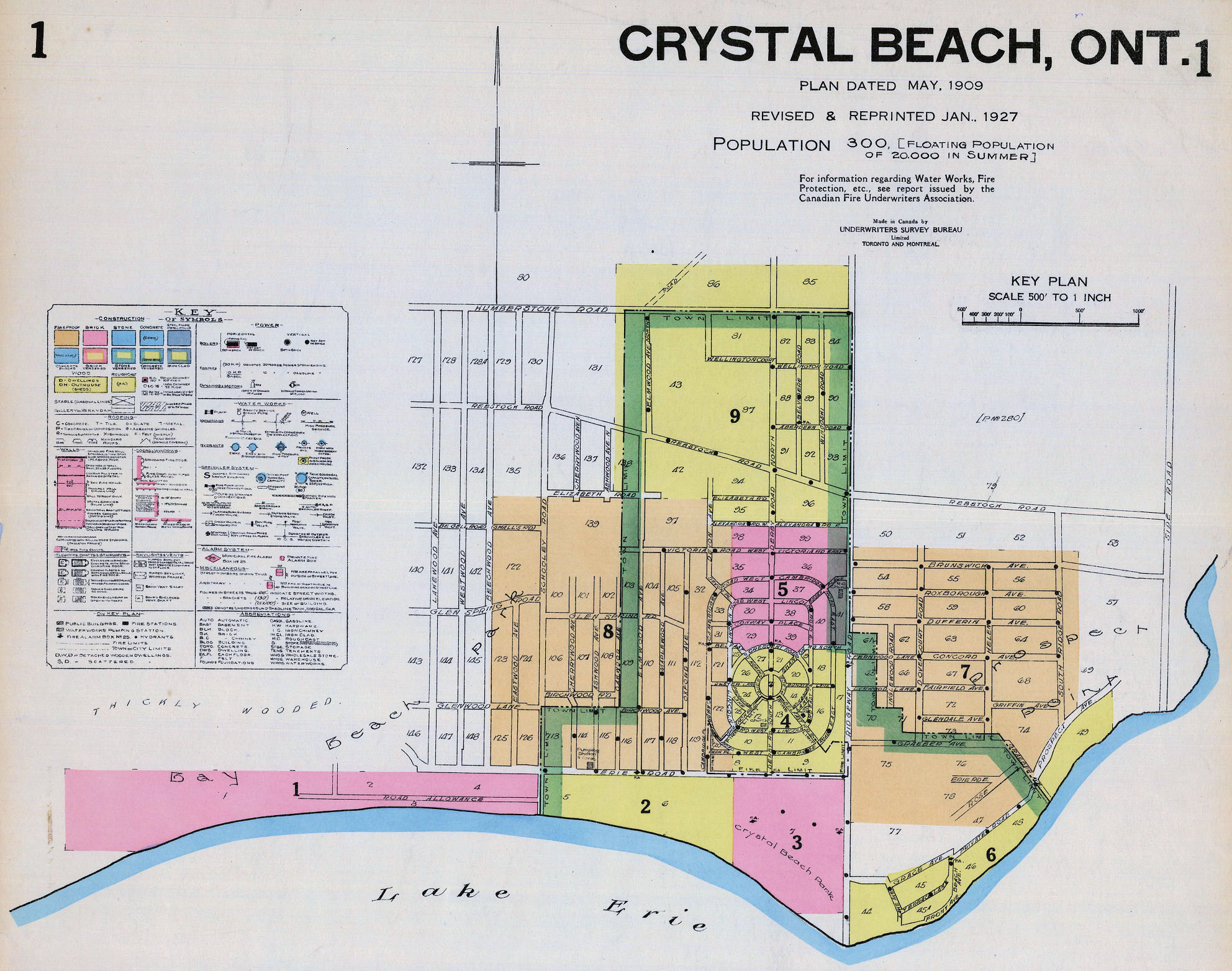 FIP index to Crystal Beach 1927