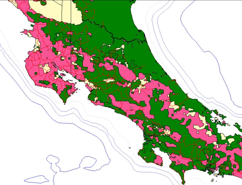 Mcmaster university libraries lloyd reeds map collection sample of vmap costa rica area gumiabroncs Gallery