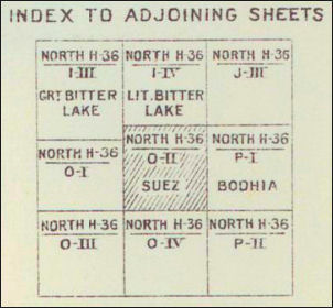 index to adjoining sheets for Africa GSGS series