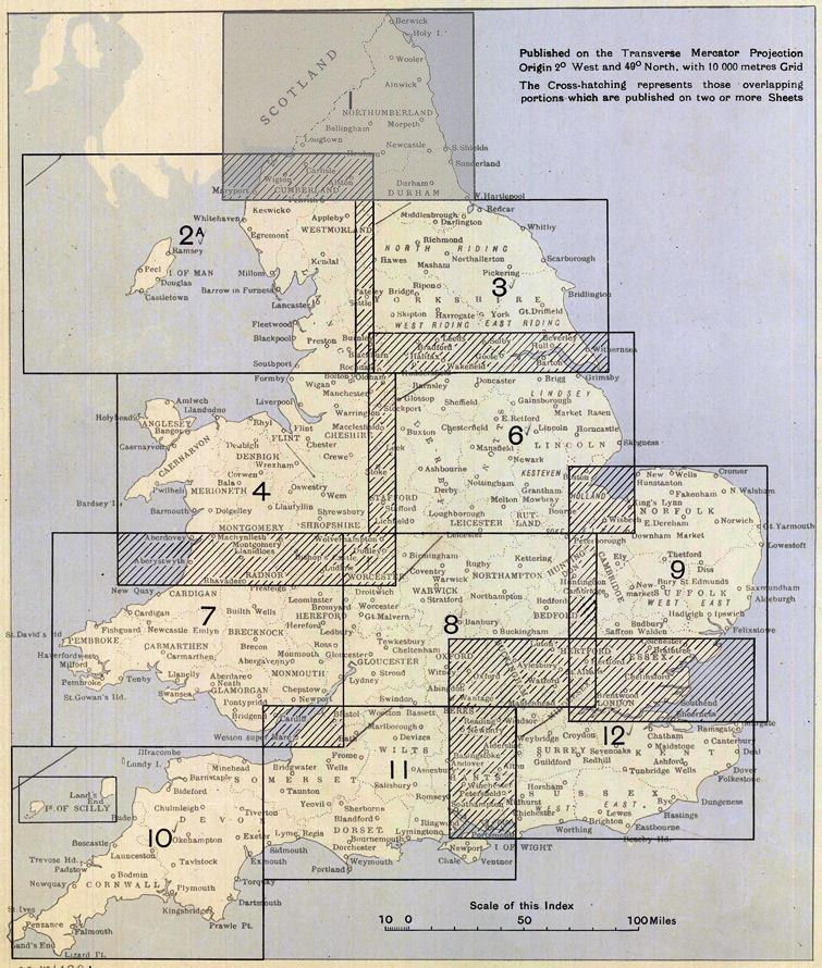 index to 1:253,400 scale topo maps of England & Wales