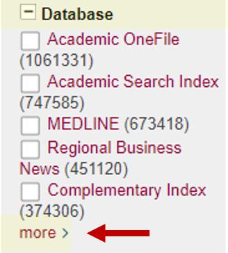 Database Limit