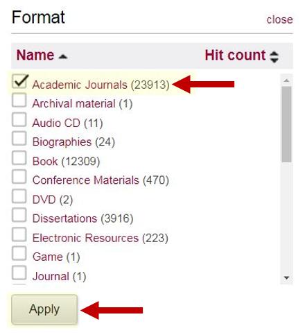 Format Limits