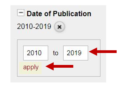 Date of Publication Limit