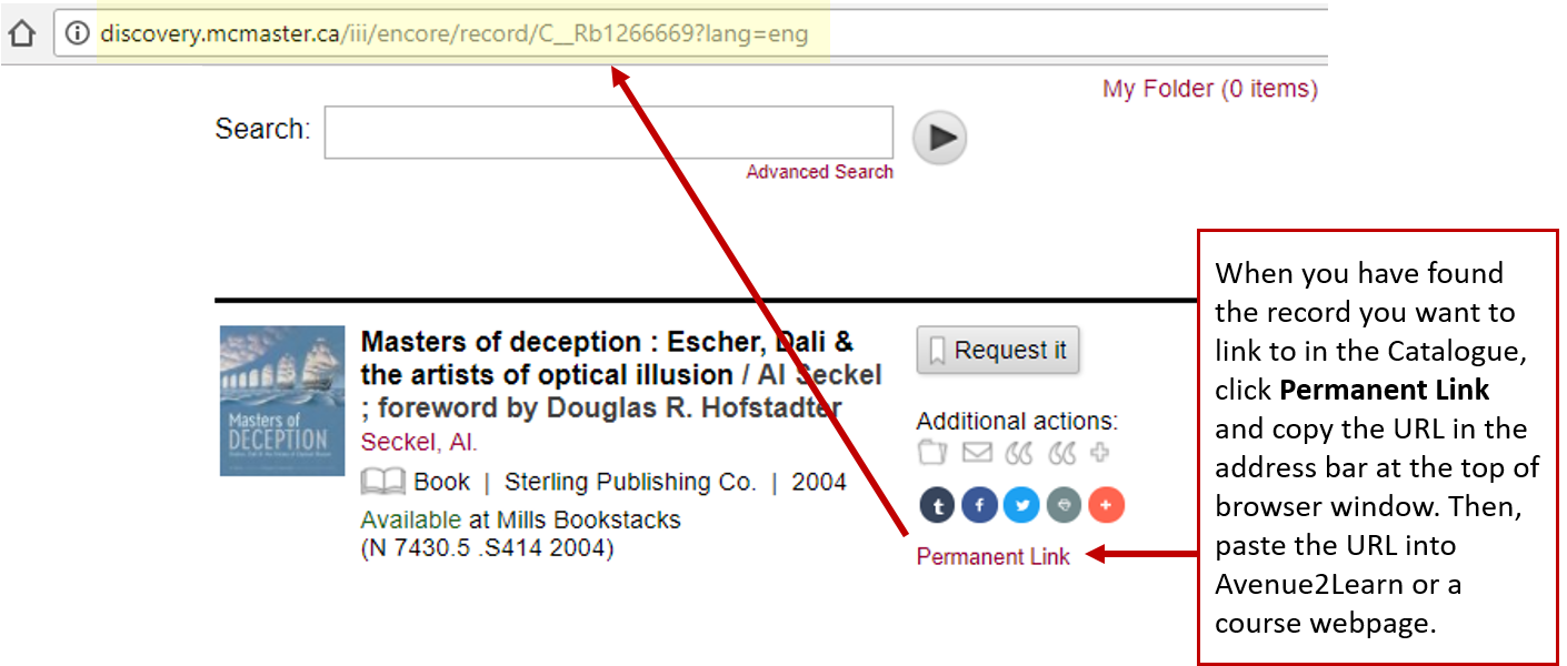 How to Link to Library Catalogue Record