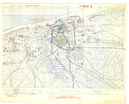 Map Of France Calais.Calais France 1 25 000 Composite Map Defence Overprint 12