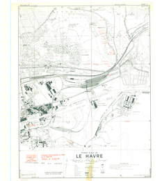 Map Of France Le Havre.Le Havre France East 1 10 000 Map Sheet 3 2nd Edition Town