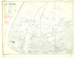 Map Of France Le Havre.Le Havre France Nw 1 10 000 Map Sheet 1 2nd Edition Town Plan
