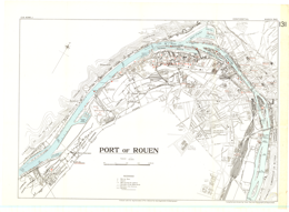Port of Rouen, France. 1:15,000. Map Sheet CB 4096 J, GSGS Misc. 68 ...