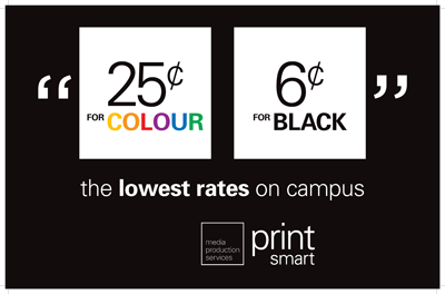 Printsmart rates - 25 cents for colour and 6 cents for black