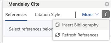 Mendeley Cite in Microsoft Word