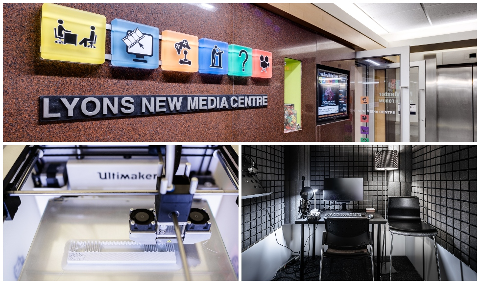 This month marks the 10th anniversary of the Lyons New Media Centre in Mills Library. The Centre was created to provide students with access to state-of-the-art media production expertise, equipment and resources including cameras, computers, video and im