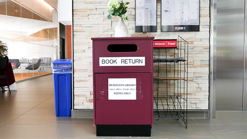 book return bin at RJC