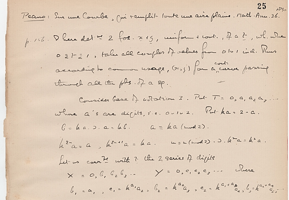 Notebook on mathematical articles, p. 27, Bertrand Russell fonds