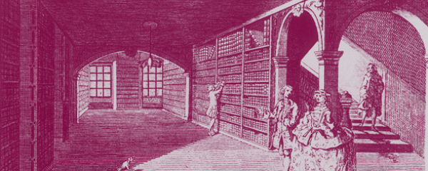 Illustration of early private library.