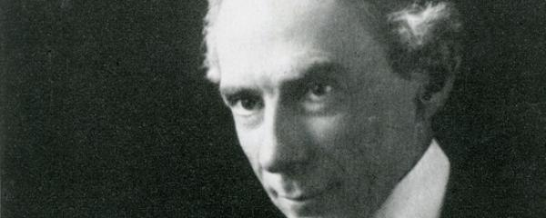 Three-quarter portrait of Bertrand Russell