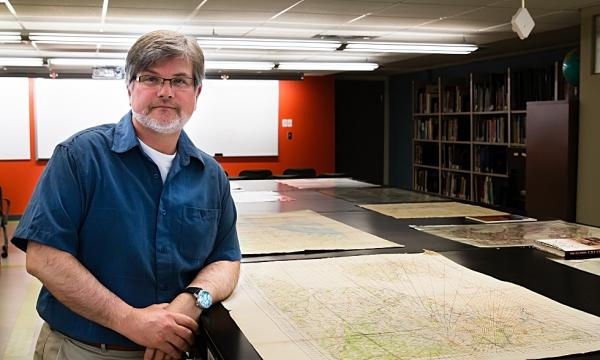 McMaster's map specialist, Gord Beck