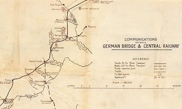 A rare map from McMaster's extensive World War One map collection is shedding light on the little-known German East Africa campaign where troops were more likely to die from disease than enemy fire, and which was fought in remote regions.